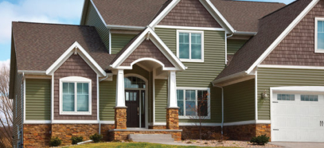 Mitten - Inspiration Gallery for Vinyl Siding includes: Sentry, Highland, Oregon Pride, Soffit, Triple 4, Pleasant View at Turkstra Lumber.